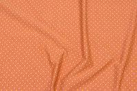 Kanelfarvet bomuldsjersey med lille gul prik