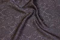 Let, jacquardvævet polyester i koksgrå