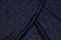 Let, jacquardvævet polyester i marine