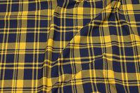 Let stræk-isoli i marine og gul klantern