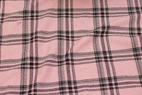Mellemsvær kjole-strækcrepe i rosa og sort