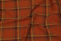 Mellemsvær kjole-strækcrepe i rust og gylden