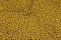 Messingfarvet kjole-micro med lille gråt mønster.