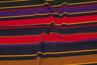 Polyester strækcrepe i rød, lilla, kanel
