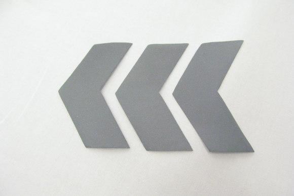 Refleks pile til påstrygning, 7 x 3 cm, 3stk