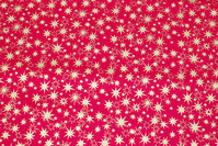 Rød julebomuld med ca. 1-2 cm guldstjerner