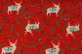 Rød, let isoli med 6 cm store hjorte.