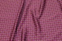 Rødlilla microsatin med lille mønster