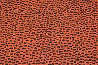 Rustfarvet kjole-micro med lille sort mønster