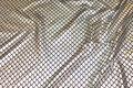 Sølv-holografi tryk på sort jersey