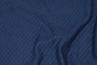 Sort, blød jersey-quilt i ca. 1 cm tern