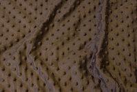 Superblød jordfarvet fleece med sorte knopper