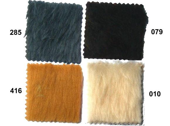 Teddy bear eller imiteret pels i brun, grå, hvid