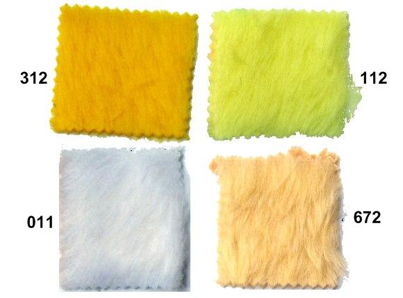 Teddy bear eller imiteret pels i gul og hvid
