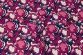 Viscosejersey i marine, pink og cerise.