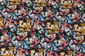 Sjov Mickey Mouse bomuldsjersey med ca. 5 cm firkanter.