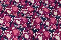 Viscosejersey i marine, pink og cerise