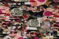 Viscosejersey i sort, pink, rosa nuancer