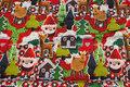 Julejersey med søde hæklede figurer. 129 kr.