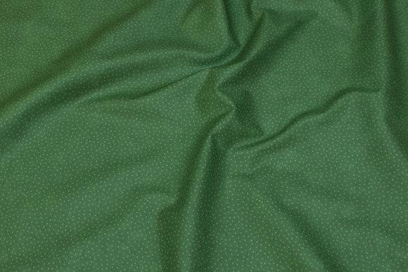 Mørkgrøn bomuld med lille lys grøn prik