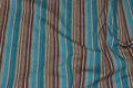 Tværstibet brun og turkis - langstræk