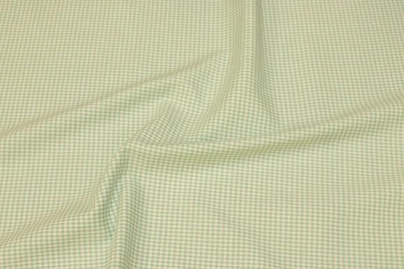Småternet bomuld i mintgrøn og hvid