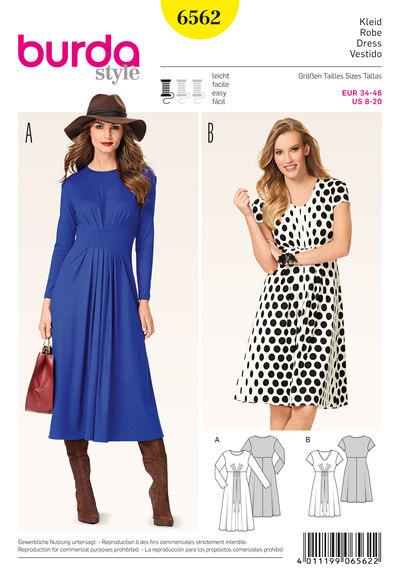 Nederdel og kjole, høj taljebånd, læg