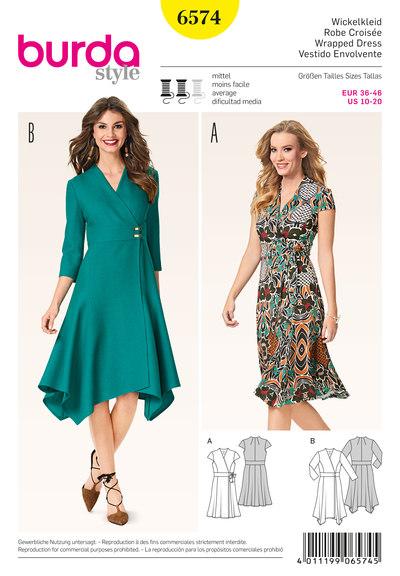 Slå-om kjole med vidde