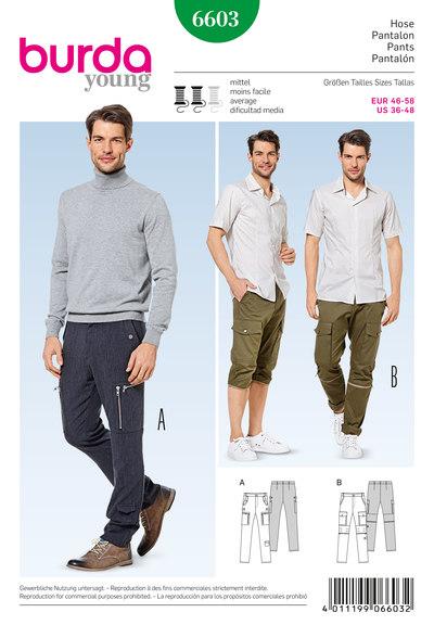 Bukser og bukser, lige ben, worker style