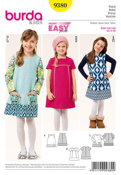 Kjole med sømkant til piger