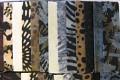 40 strimler 6,5 x 110cm Afstemt i beroligende naturlige brune, grå og sorte farver.