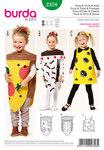 Burda 2358. Pizza og kage og ost, små børn.