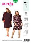 Burda 6255. Dress with Flared Skirt, V-Neckline– Round Neckline.