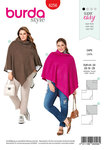Burda 6256. Rectangular Cape, with or without Collar.