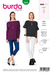 Top with Scoop Neckline , Casual Loose Fit, Frills.