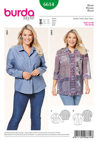 Shirtblouse, let figursyet . Burda 6614.