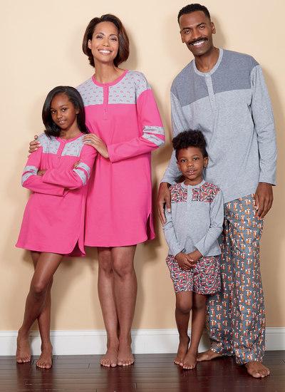 Top, Tunika, Shorts og Bukser til familien