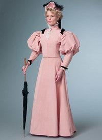 Costume klassisk kjole. Butterick 6537.