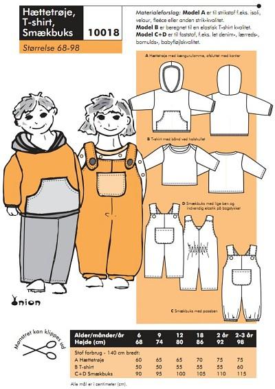 Hættetrøje, T-shirt, smækbuks