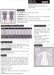 Jakke i raffineret snit med flot krave, kan bruges både som indejakke og som overtøj. Se bagside for øvrige materialer.