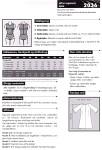 Kjolen kan både syes i fast stof og strikstof. Ved strikstof kan lynlåsen midt bag undlades.