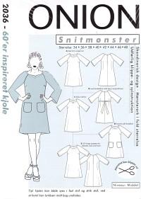 60er inspireret kjole. Onion 2036.