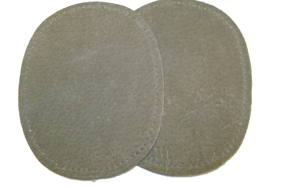 Ægte ruskindlapper grå 13 x 10 cm