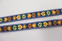 Blomstret bånd 1cm