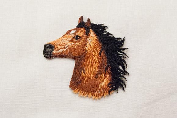 Broderet hest strygemærke 5x5cm