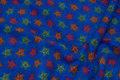 Coboltblå fleece med stjerner på ca. 3 cm.