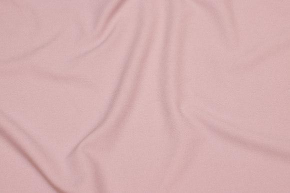 Gammelrosa, let polyester-kjolecrepe med stretch