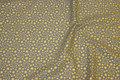 Grå bomuld med guldstjerner