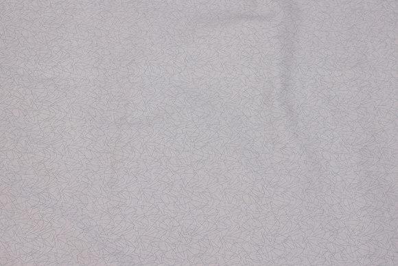 Gråblå patchwork-bomuld med diskret stregmønster