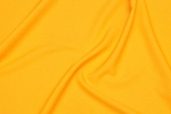 Gul, let polyester-kjolecrepe med stretch